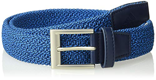 - adidas Golf Men's Braided Stretch Belt, Large/X-Large, Bright Blue