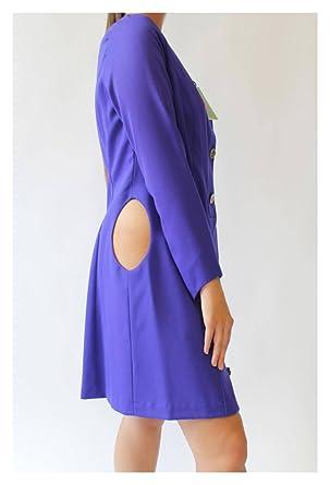 Bruno IERULLO 100% Italian Wool Women's Dress (Made In