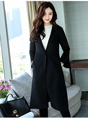 Paragraph Black and Winter Tide Long Women Autumn Fashion LD S Suit in 'S Coat Women' Woolen Windbreaker the TqxP455
