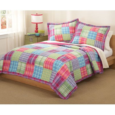 PEM America Kelsey Pink Twin Quilt with Pillow Sham