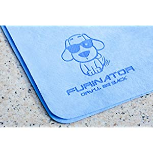 Pet Towel | Dog Towel | Super Absorbent PVA Bath Chamois | Great for Dogs and Cats | Anti-Bacterial Eco-Friendly and Easy-to-Clean | Fastest way to dry your pet | by FURINATOR