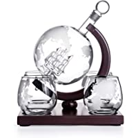 Mona43Henry Globe Decanter Set – Whiskey Decantador Globo