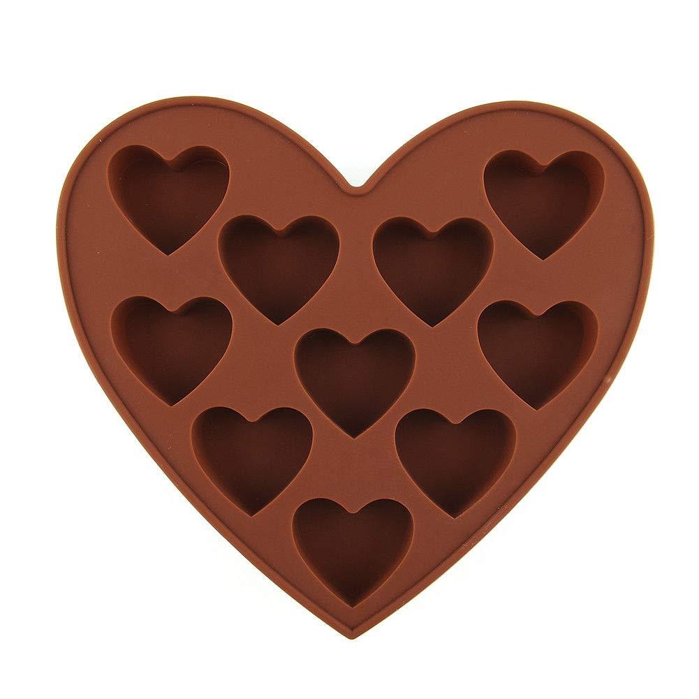 Bazzano DIY ハート型 シリコン クッキー チョコレート ケーキ型 型 アイスキューブ ユニーク トレイ パン B07GPZYX4Y