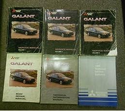 1999 mitsubishi galant service shop repair manual 6 vol set rh amazon com Mitsubishi Galant Owner's Manual 2003 Mitsubishi Galant Repair Manual