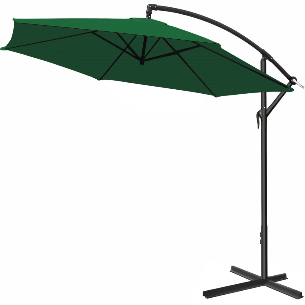 Deuba Garden Sun Parasol 3m or 3.5m Banana Hanging Patio Umbrella Outdoor Café Beach Shade Cantilever – Colour Choice