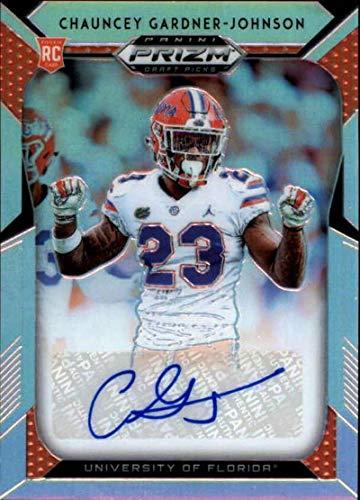 2019 Panini Prizm Draft Picks Prizms Silver Autograph #219 Chauncey Gardner-Johnson Auto Florida Gators RC AUTO NCAA College Football Trading Card