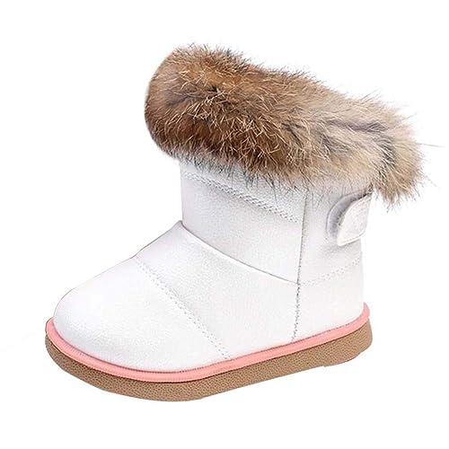 0399da53f26 Uirend Zapatos Botas Niños - Niña Botas de Nieve Invierno Botines Calentar  Ante Anti Deslizante Zapato Bota de Trabajo  Amazon.es  Zapatos y  complementos