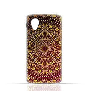 LG Nexus 5 2013 TPU Silicone Case with floral pattern 1201