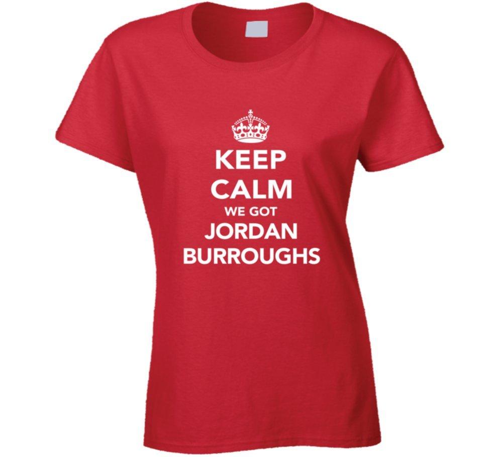 Jordan Burroughs Keep Calm USa 2016 Olympics Wrestling Ladies T Shirt 2XL Red