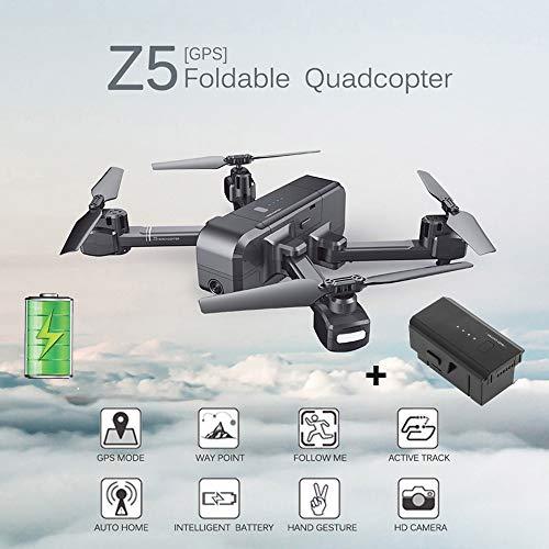 SJ R/C Z5 1080P Wide-Angle Camera WiFi FPV GPS RC Drone Quadcopter + The Battery Black