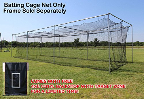 Select 42 Twisted Poly Batting Cage Nets Only with FREE 4×6 Heavy Vinyl Backstop