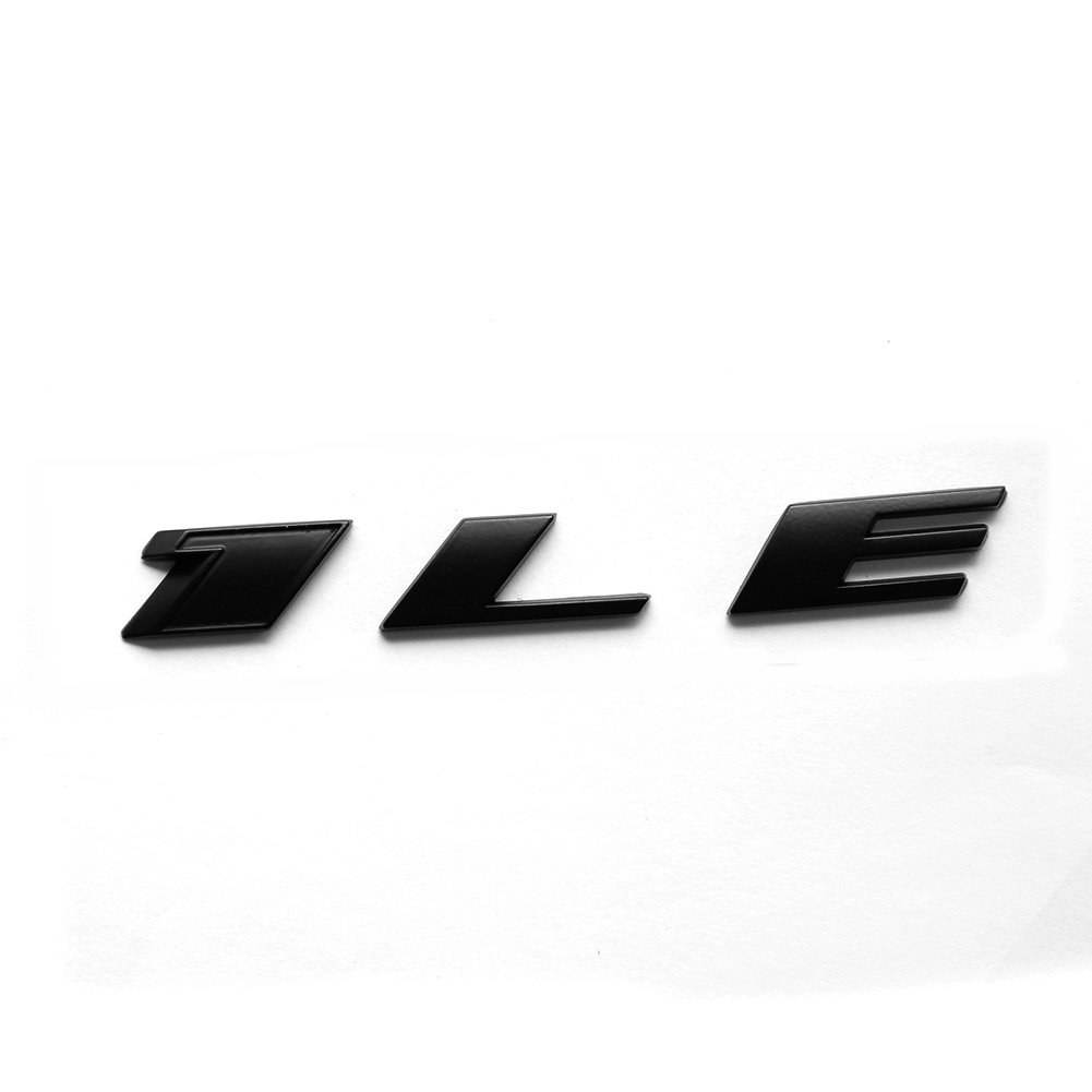 Yoaoo 1 OEM Camaro 1LE emblem badge letter Rear Side 1LE Door Genuine Matte Black