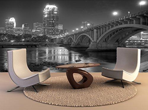 Wall Tapestry Downtown Minneapolis Mn Black White Wall Art Decor Photo Wallpaper Poster - Downtown Mn