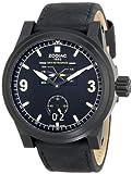 Zodiac ZMX Men's ZO8563 Aviator Stainless Steel Watch with Black Leather Band