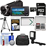 Sony Handycam HDR-CX405 1080p HD Video Camera Camcorder 32GB Card + Case + LED Light + Battery + Tripod + Kit