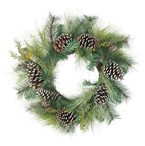 Mikash 28 in. Mixed Long Needle Pine Unlit Christmas Wreath | Model WRTH - 512 ()