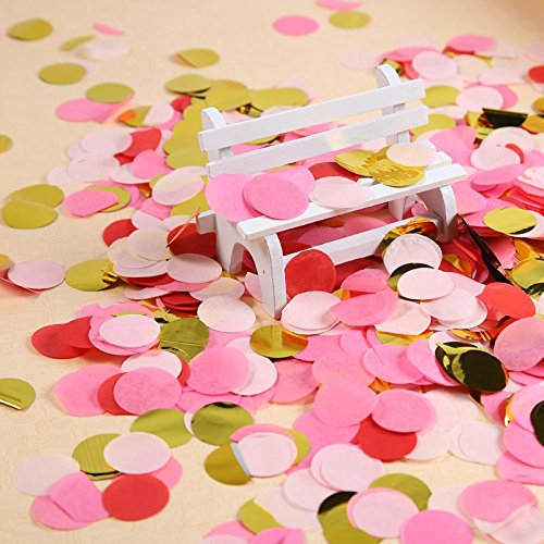 Party Decoration - 4000pcs Lot Mixed Color Round Shape Paper Confetti Romantic Wedding Party Decoration Birthday - Panthers Coral Art Africa And Tree Beauty Princess Glass Yellow -