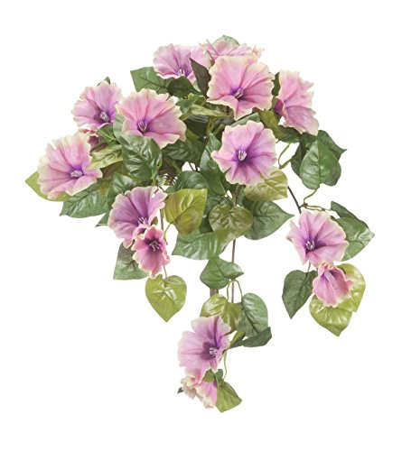 """OakRidge Artificial Petunia Hanging Stem – Pink, 25"""" Long – Faux Floral Home Décor for Indoor/Outdoor Use"""