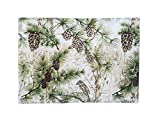 Heart of America Cotton Placemat With Pinecones - 6 Pieces