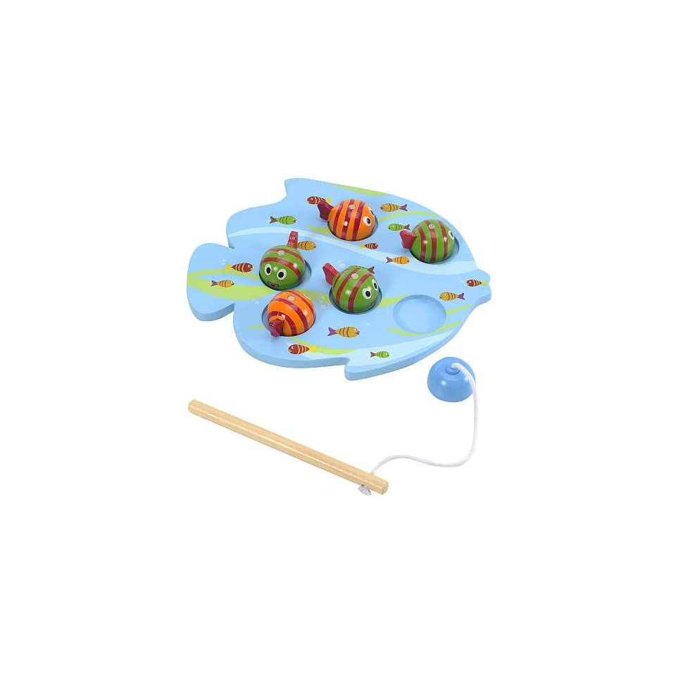 Pavilion Wooden Fun Magnetic Fishing Game