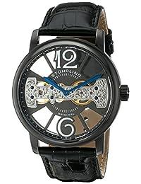 Stuhrling Original Men's 785.02 Classic Analog Display Mechanical Hand Wind Black Watch