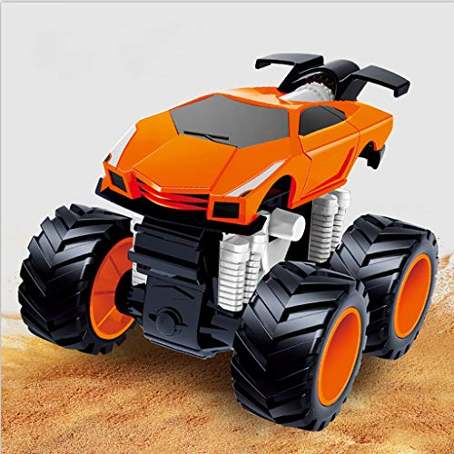 AMOFINY Baby Toys Toy Car Inertia Four-Wheel Drive Big Foot Simulation Racing Children Boy Model Car Anti-Falling Aged Baby Car Early Inertia Racing Car Model Mini Toy Car Children Gift Toy ()