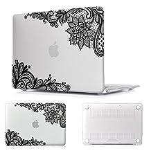 "Batianda - Pro 13-inch Black Lace Matte Hard Sleeve Cover Case for MacBook Pro 13.3"" (A1278)"