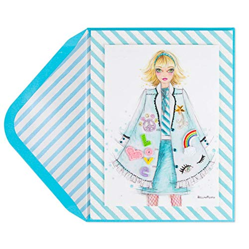 (PAPYRUS Bella Pilar Fashion Patches The Glamour Collection Blank Card)