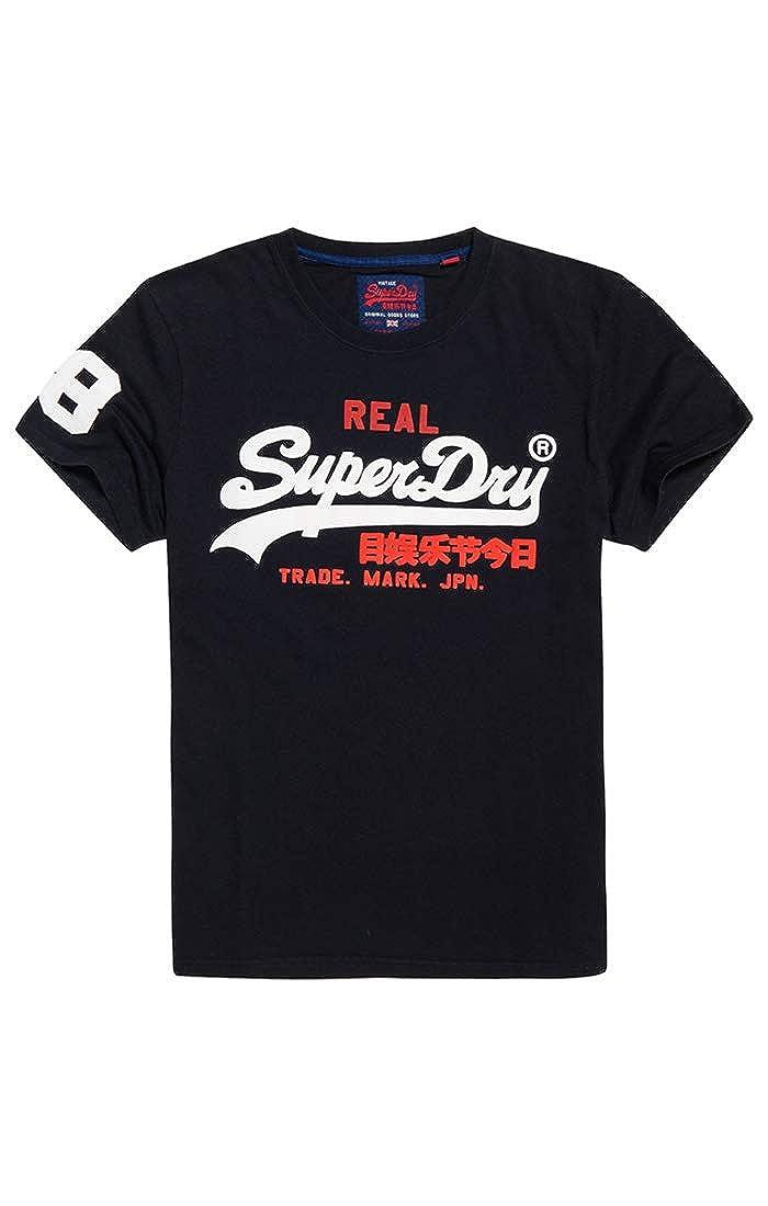 Superdry Mens Vintage Logo Tri T-Shirt Blue