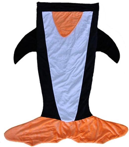 jiamingshop niños tiburón sirena cola acogedor manta de forro ...