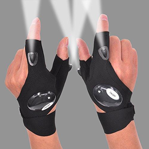 Mechanics Gloves With Led Lights - 9