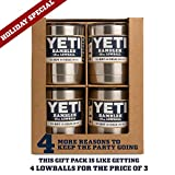 : YETI Rambler Lowball 10 oz Stainless Steel Cup with Lid 4 Pack