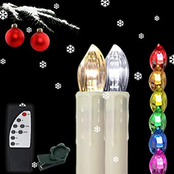 Weihnachtsbeleuchtung Innen Kerzen.Hengda 90x Led Kerzen Kabellose Rgb Lichterkette Innen Deko Weihnachtsbeleuchtung Set Mit Fernbedienung Party 90