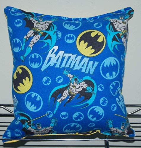 """(Batman Pillow Classic Batman Pillow HANDMADE In USA Toddler,Travel, Daycare Pillow is approximately 10"""" X 11"""
