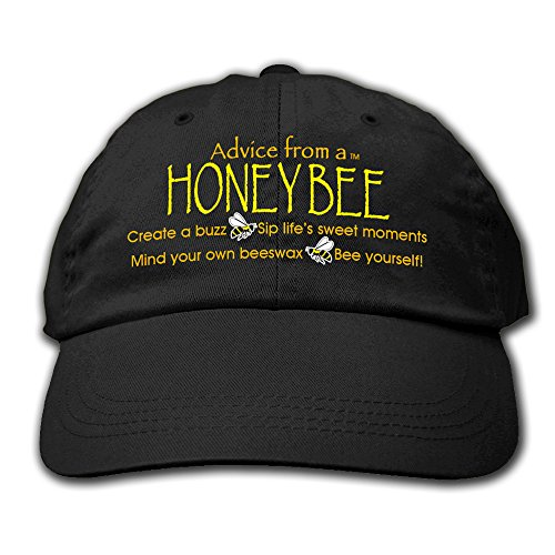 Advice From A Honey Bee - Embroidered Black Hat