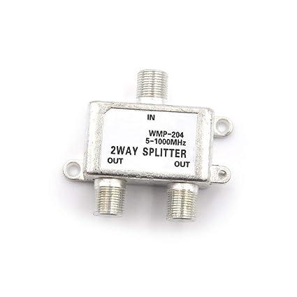 Cacys-Store - 2 Way Port TV Signal Satellite Sat Coaxial Diplexer Combiner Splitter Combiners
