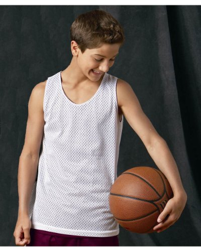 Badger Sport Youth Pro Mesh Reversible Tank Top, Purple/ White , Small by Badger Sport