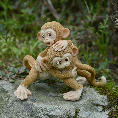 Heliyan Resin Miniature Monkey Fairy Garden Fantasy Figurine Art Works Home Decor Gifts