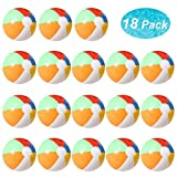 Lumiparty Inflatable Beach Balls(18PACK) 7.5