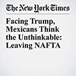 Facing Trump, Mexicans Think the Unthinkable: Leaving NAFTA | Elisabeth Malkin