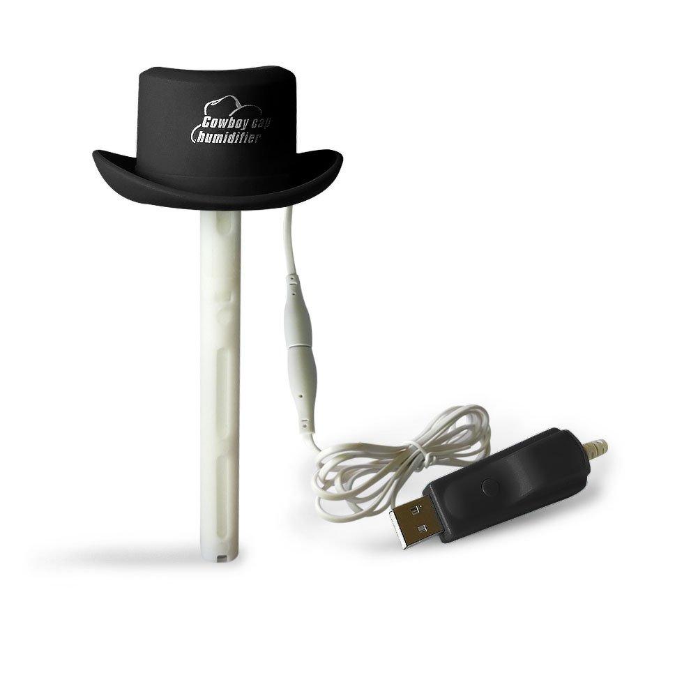 Wpunwen DeskTop USB Mini Humidifier Dorm Single Room Office Car Ultrasonic Cool Spray Air Quiet Mist Stick Black 3 Pcs Filter Sticks
