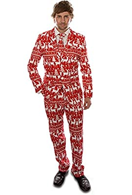 Stag Suits Red Reindeer Christmas