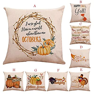 Throw Pillow Cover, DaySeventh Print Pillow Case Polyester Sofa Car Cushion Cover Home Decor 18x18 Inch 45x45 cm