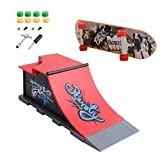 Dabixx Mini Finger Skateboard, Skate Park Ramp Parts for Tech Deck Fingerboard Finger Board Ultimate Parks - C#