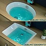 Lavabo da incasso bagno ovale squadrato e rettangolare in ceramica bianco design moderno