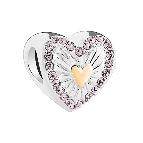 Chamilia Heart (Authentic Chamilia Sterling Silver Hearts Ablaze Charm 2025-1769)