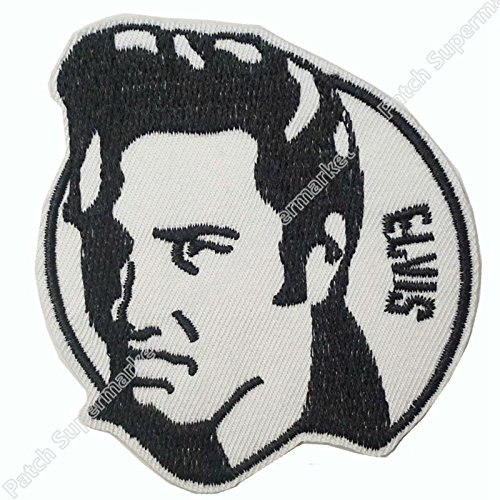ASTONISH Elvis Presley Band Iron On/Sew On Patch Tshirt Transfer Motif Applique Rock Punk Badge Wholesale (Rock Band Iron On Transfers For T Shirts)