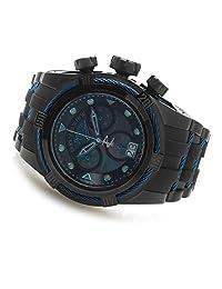 New Invicta 90008 Men's Reserve 52mm Bolt Zeus Swiss Made Quartz Chronograph Mother-of-Pearl Dial Black Polyurethane Strap Watch