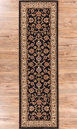 Noble Sarouk Black Persian Floral Oriental Formal