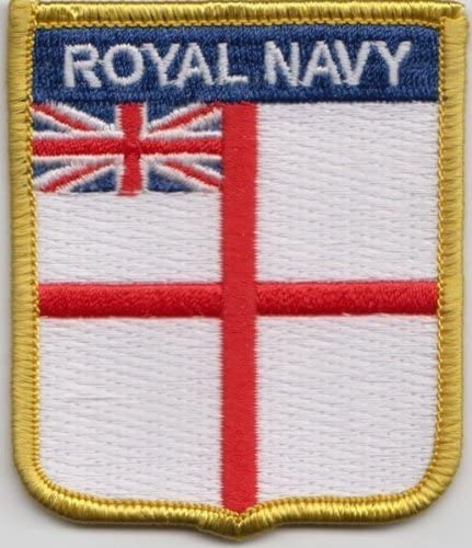 Royal Navy White Ensign Rectangular Embroidered Patch Badge